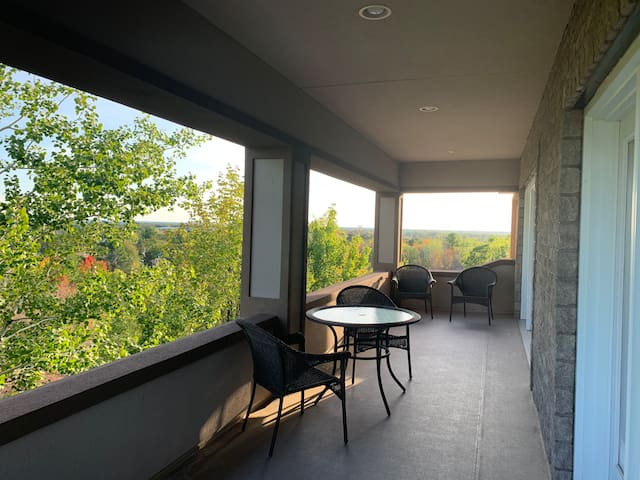 Terrace off of the bedrooms.