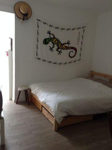 Chambre indépendante avec jardin, accèsA6A19