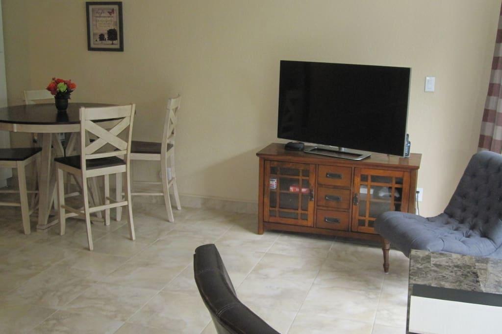 Enjoy our spacious living room.