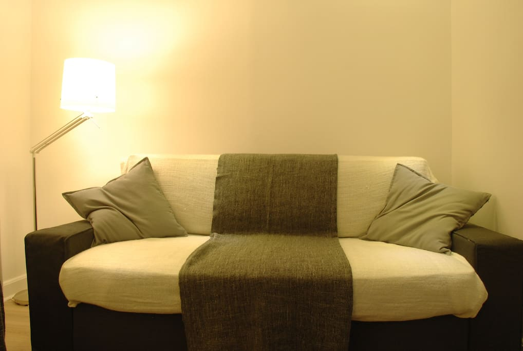 The comfy sofa bed / Le canapé-lit confortable