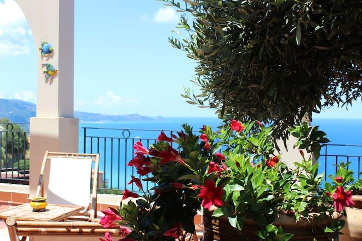 Casa vacanze vista mozzafiato Brolo/Gliaca