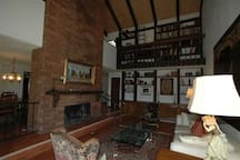 Living room with fireplace 2