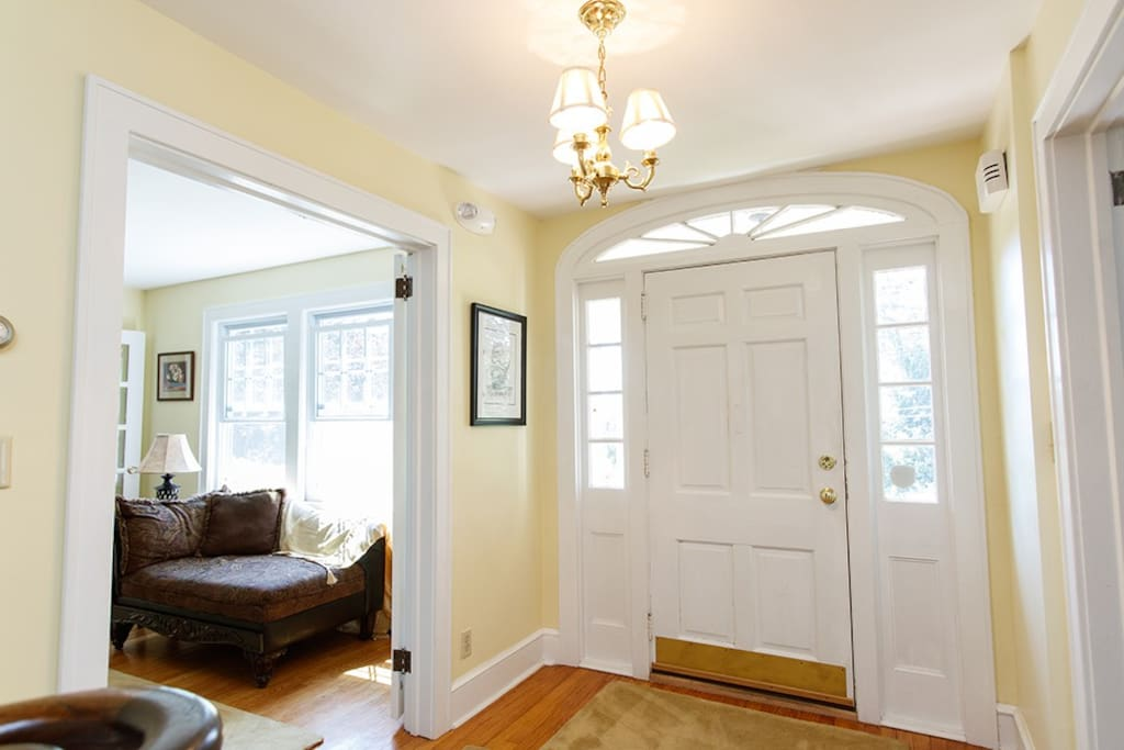 Elegant Colonial entryway.