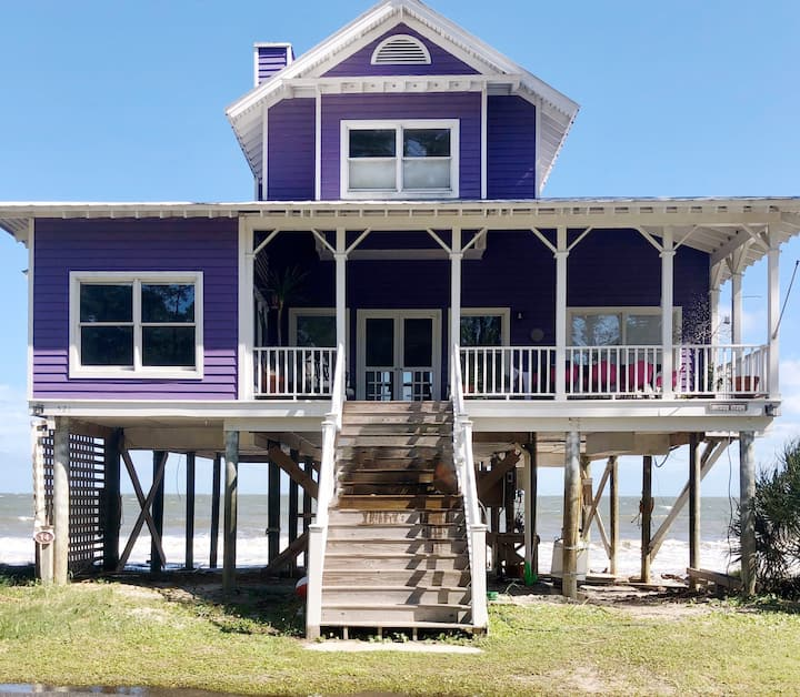 Landmark Beachfront Property-The Purple House