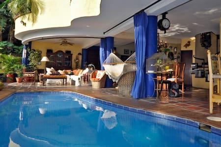 Designer's own villa by the sea.