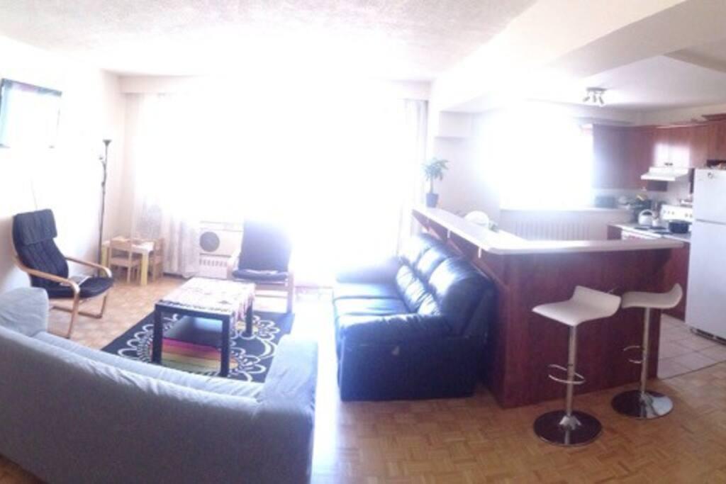 Living Room: very bright!