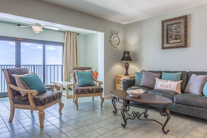 March 20-25 NOW OPEN*BEACH FRONT*Sleeps 8*Updated Corner Unit! Gulf Tower 11D