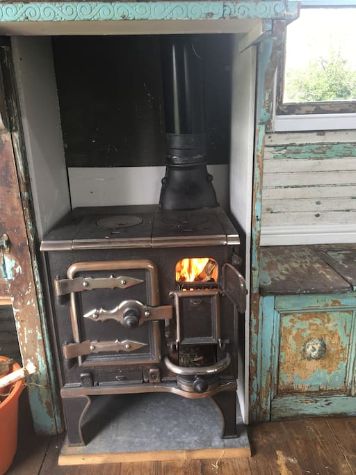 Lovely cosy solid fuel stove