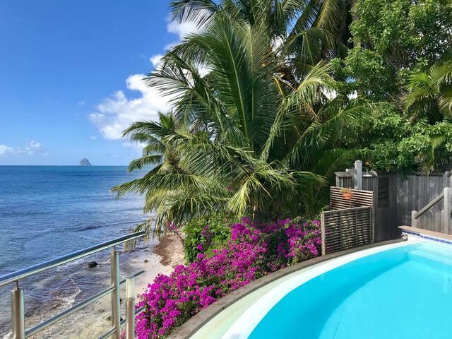 Villa La Dominique, piscine, plage à proximité