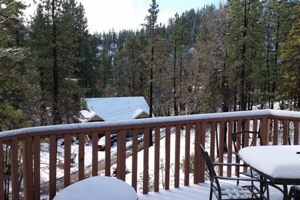 View outside the deck