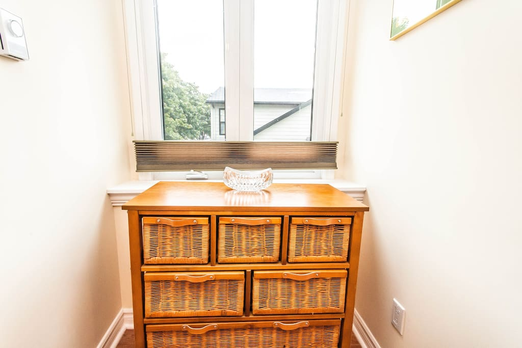 East Alcove in Guest Bedroom with storage drawers