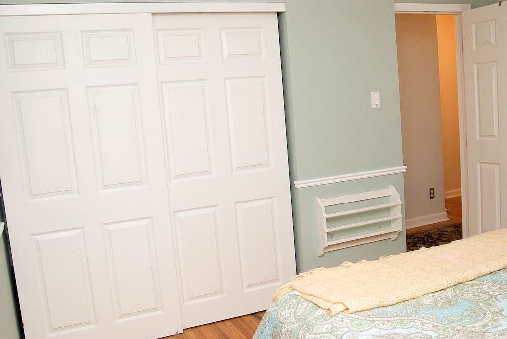 Private room with full closet, spacious with two windows.