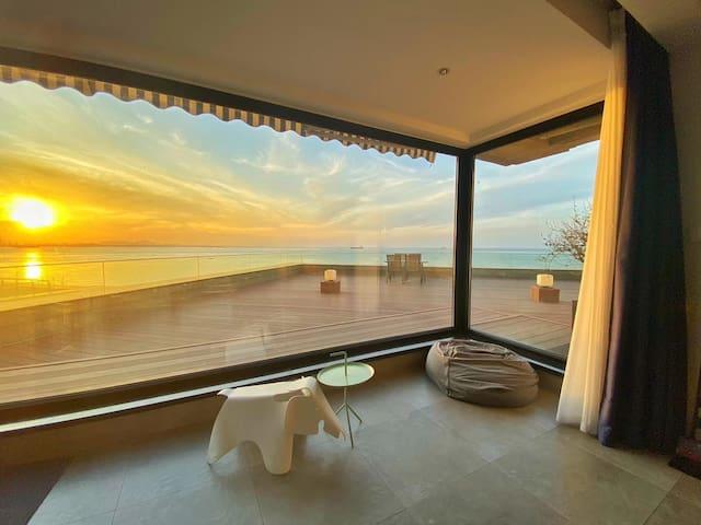 【涵舍】北欧极美三居,私家观海露台