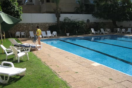 Herzliya Pituach Apartment with Pool, by the Beach - Herzliyya - Flat