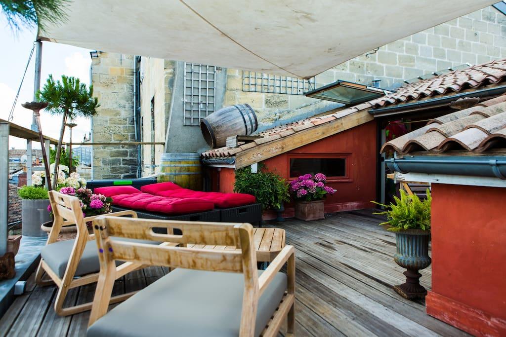Appart coup de c ur avec terrasse appartements louer for Location bordeaux terrasse