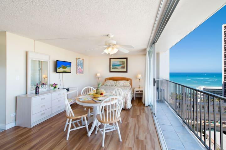 Studio with Ocean Views | 1 Block to Beach | WiFi