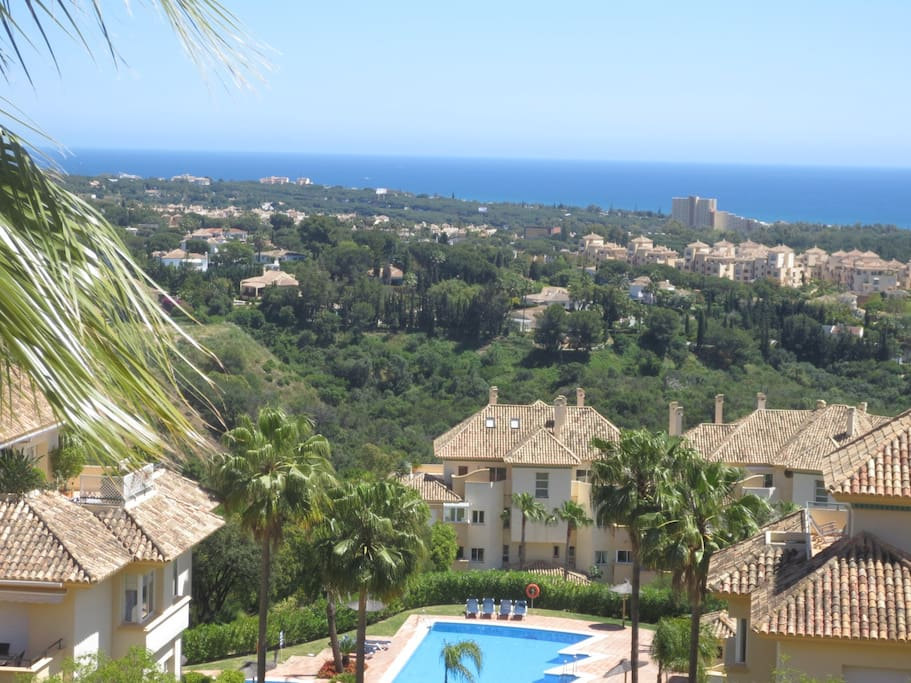 Stunning view on the Mediterranean from south balcony