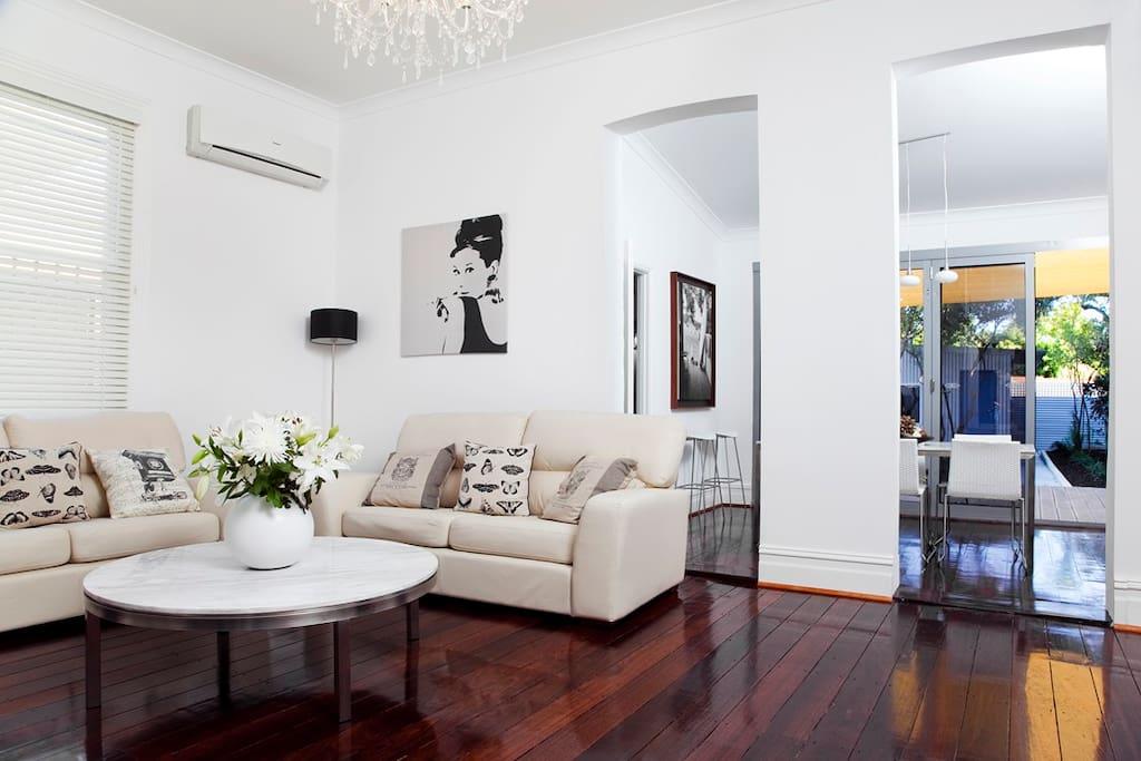 Comfortable stylish Lounge room