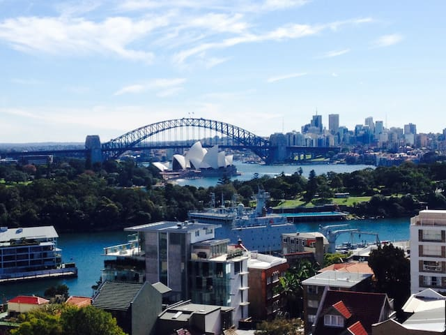 Studio with the best Sydney views. - Potts Point - Appartement