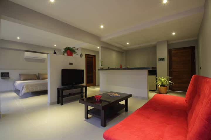 Appartement 50m²/lit king size/piscine/wifi 200Mb
