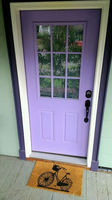 Your beautiful, private, purple entrance : )