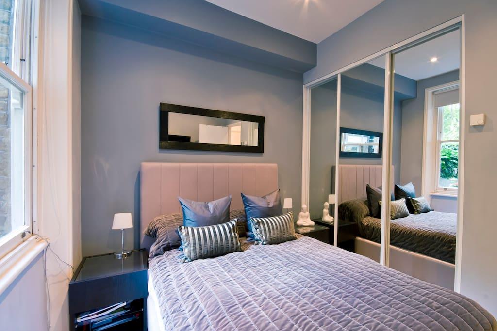 Bed has a ergoflex memory foam mattress for a blissful night
