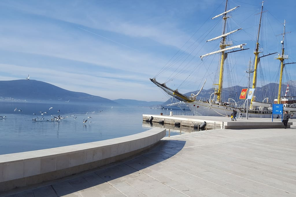 Tivat Center (5 min. walk)