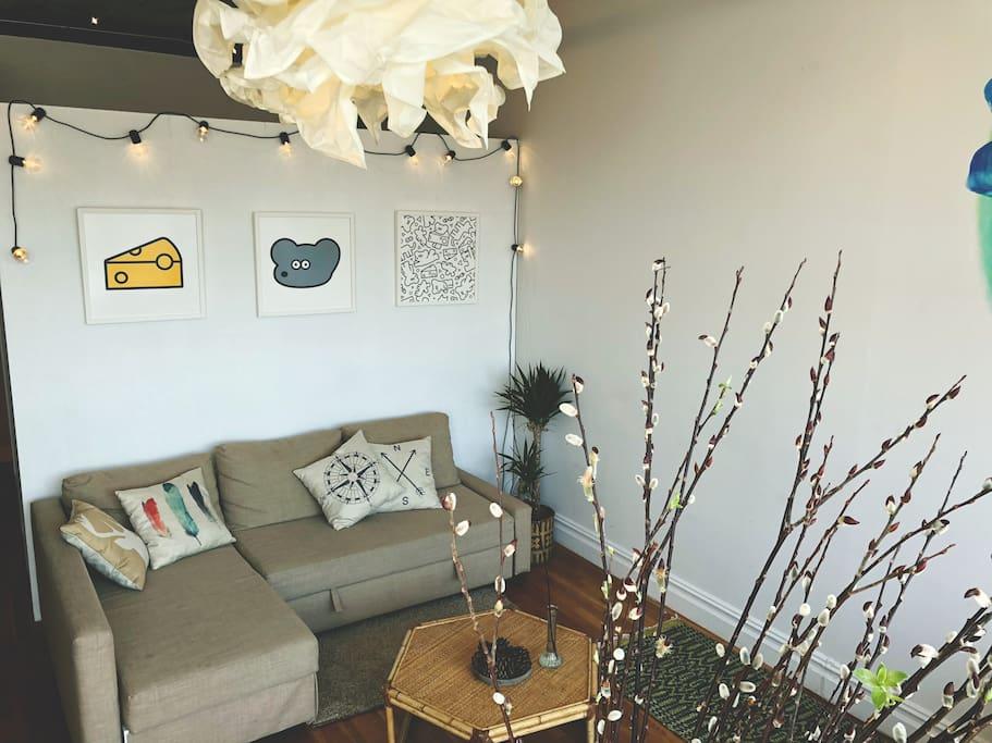 Living room は共有スペースです