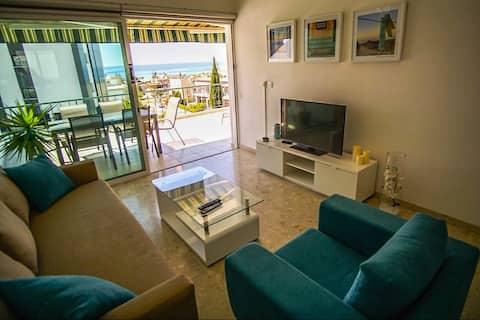 Lägenhet med havsutsikt, Pool, Nära stranden