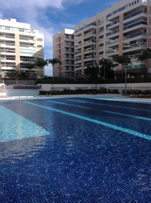 Apartment also overlooks large pool area