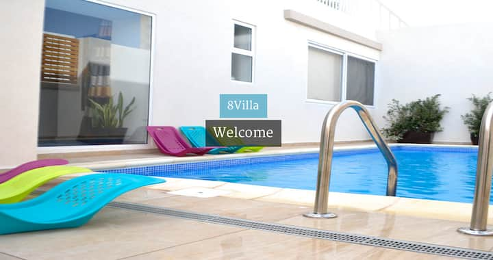 8Villa B&B in St Julians, double bedroom