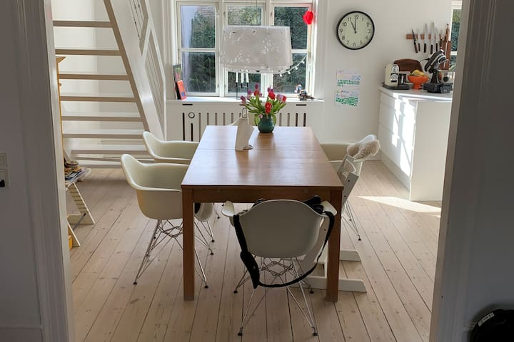 Big, cosy flat with own garden on Frederiksberg