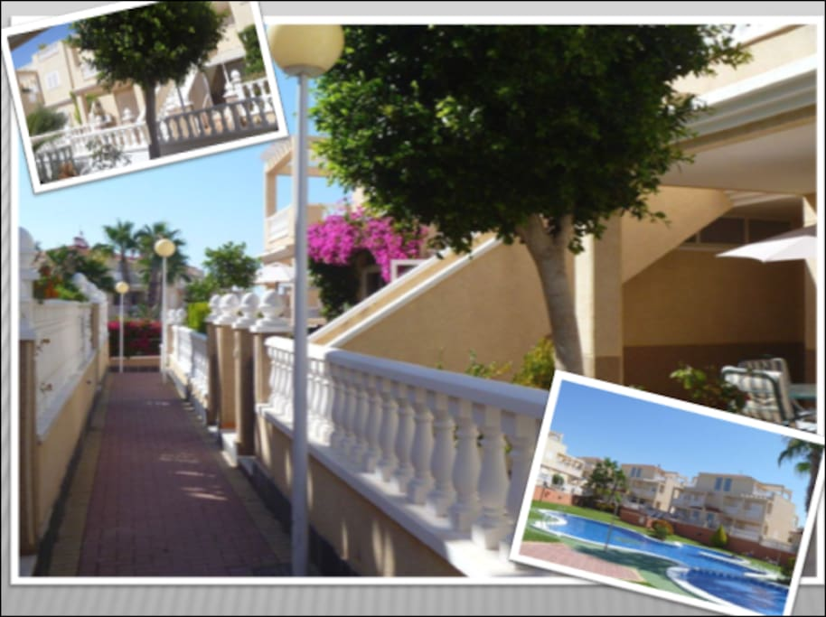 Private path that leads to the swimming pool from the apartment (30 seconds walk)