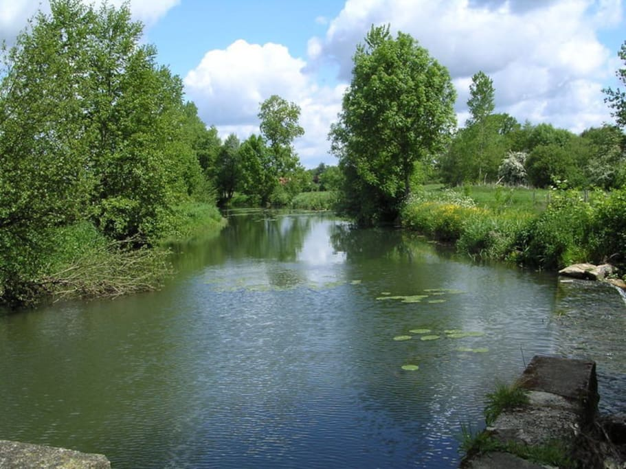 Your view of the beautiful La Bonnieure river