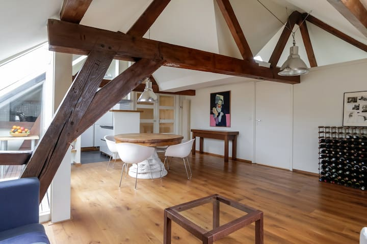 Loft in old heritage building with beautiful view - Dordrecht