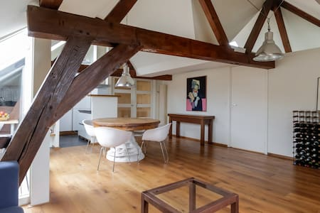 Loft in old heritage building with beautiful view - Dordrecht - Loteng