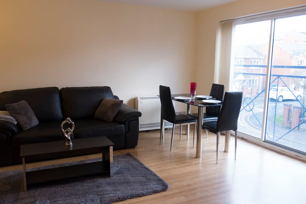 Cosey living room and dining area