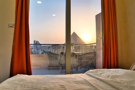 Great Pyramids View from your room in the Sky