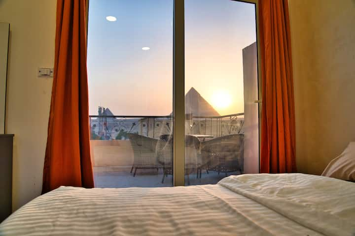 Great Pyramids View from your Sky Lounge