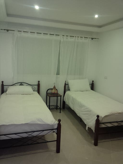 Bedroom #2 with separate beds