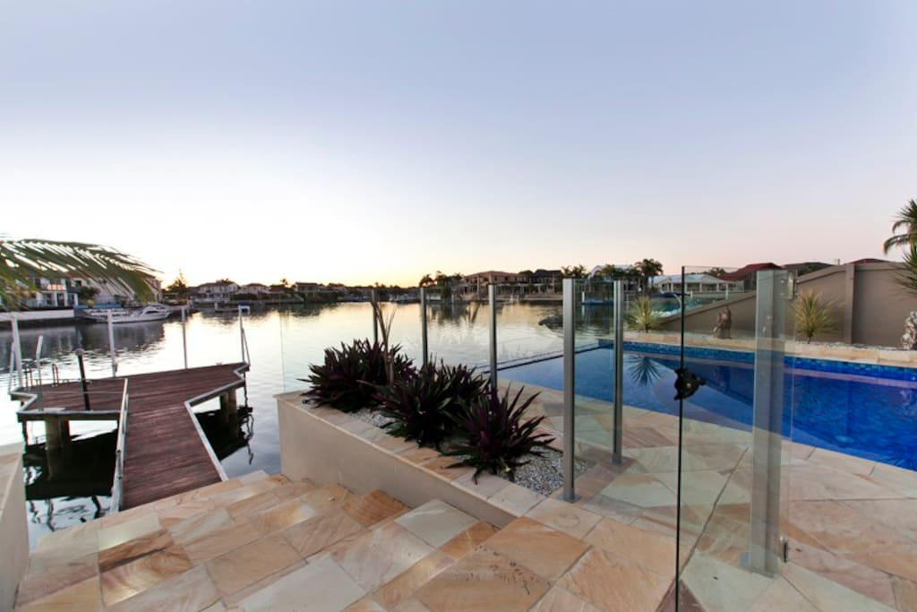 The beautiful views of the house which overlooks several canals on Runaway Bay Island