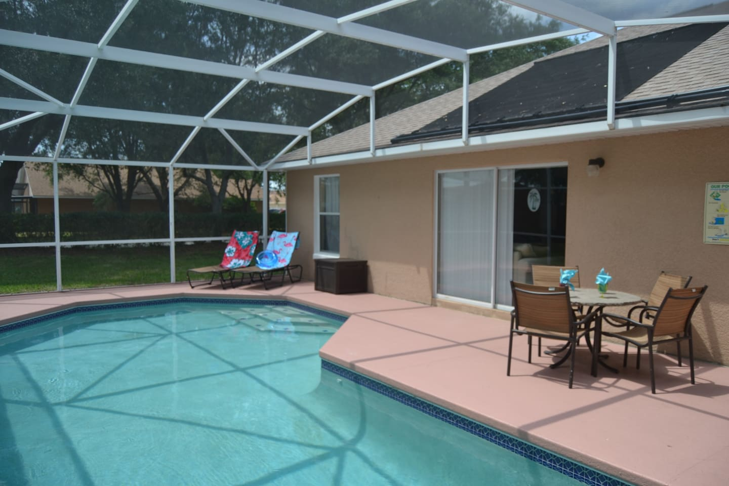 Enjoy your private heated pool, free WiFi and your included BBQ grill