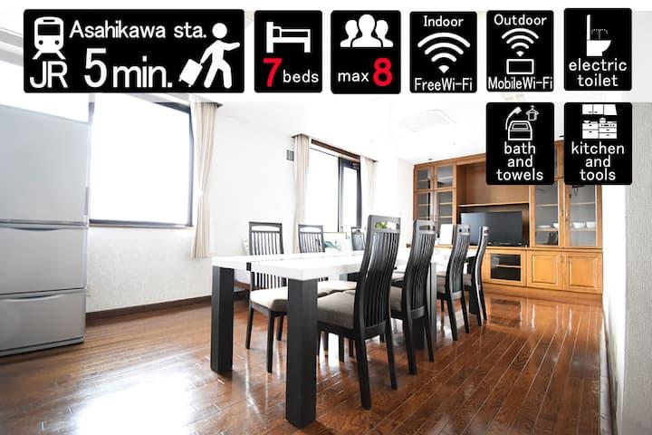 [901]5mins[Asahikawa]station!Pocket Wifi!