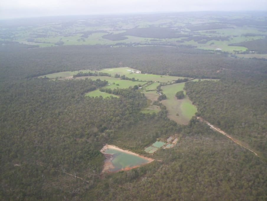 From the air- our farm.