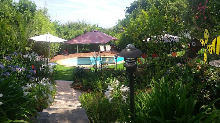Very charming house 80 m2 nice garden and pool.