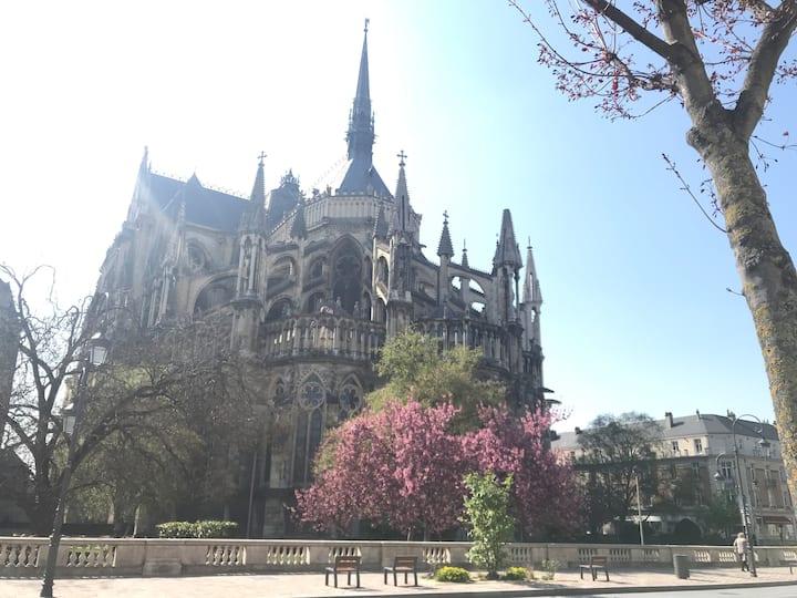 Au pied de la Cathédrale de Reims - Centre ville
