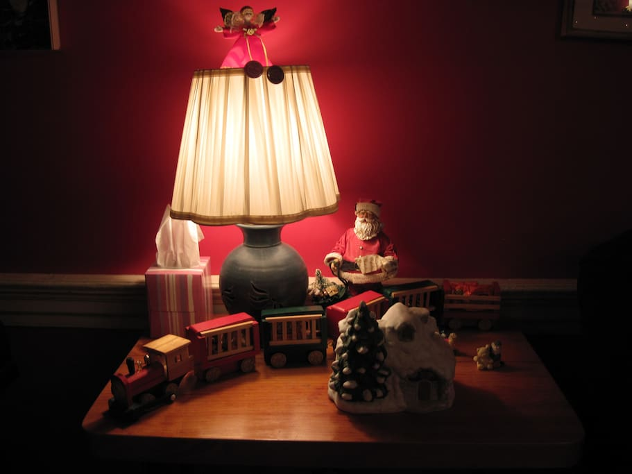 Christmas in the red room (downstairs living room)