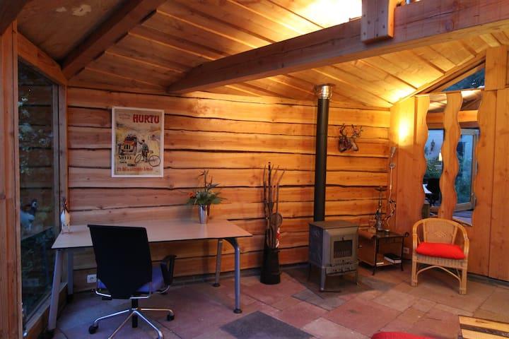 Desk, woodstove