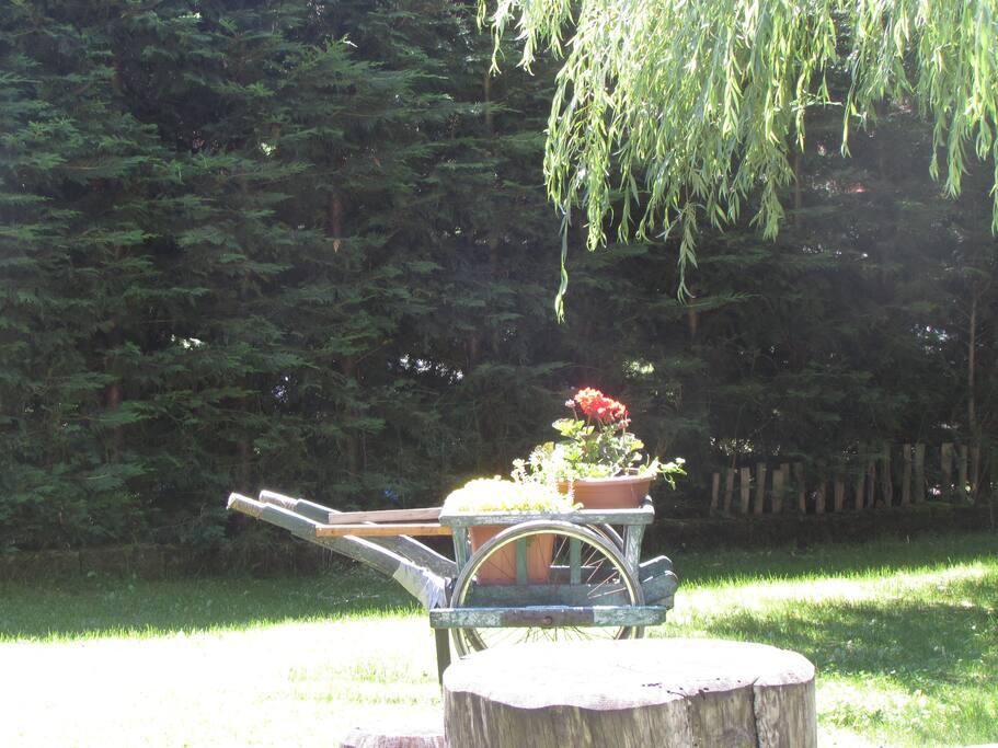 decorazione in giardino
