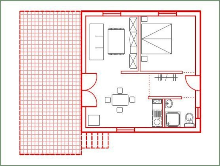 The apartment layout